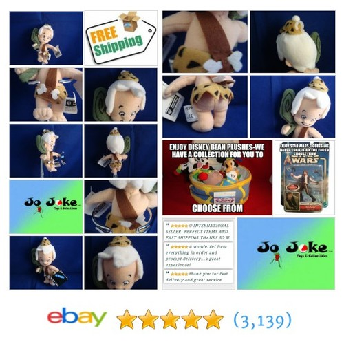 WARNER BROS STUDIO STORE-BAMM BAMM RUBBLE BEAN PLUSH-7.5 IN-HAT-CLUB-NEW/TAGS | eBay #WARNERBROSSTUDIOSTORE #etsy #PromoteEbay #PictureVideo @SharePicVideo