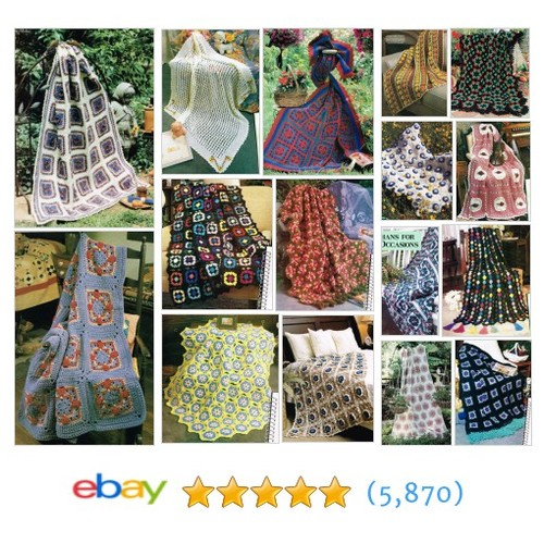 Afghan Crochet PATTERNS Items in Tied Up in Stitches store #ebay @tiedinstitches  #ebay #PromoteEbay #PictureVideo @SharePicVideo