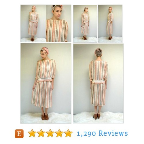 Two Piece Chiffon Dress // 80s Blouse and #etsy @vintageurban  #etsy #PromoteEtsy #PictureVideo @SharePicVideo