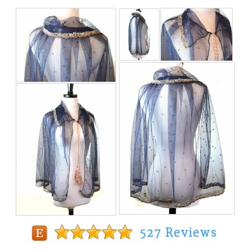 Blue Cape, Tulle Cape, Bridal Wrap, #etsy @miriboheme  #etsy #PromoteEtsy #PictureVideo @SharePicVideo