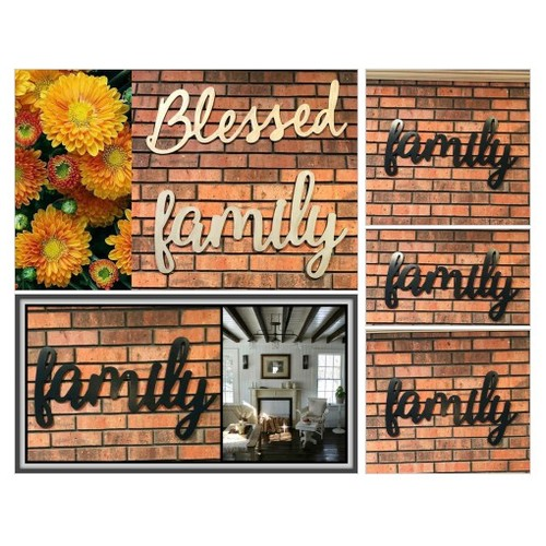 Family Sign - Family Wall Decor - Family Wood Sign - Family Sign Cutout - Word Art - Farmhouse Decor - Family Word Sign - Mothers Day Gift  #etsyspecialt #integritytt #SpecialTGIF #Specialtoo  #SpecialTParty      @SGH_RTs  @OrbiTalRTs @RTFAMDNR #etsy #PromoteEtsy #PictureVideo @SharePicVideo