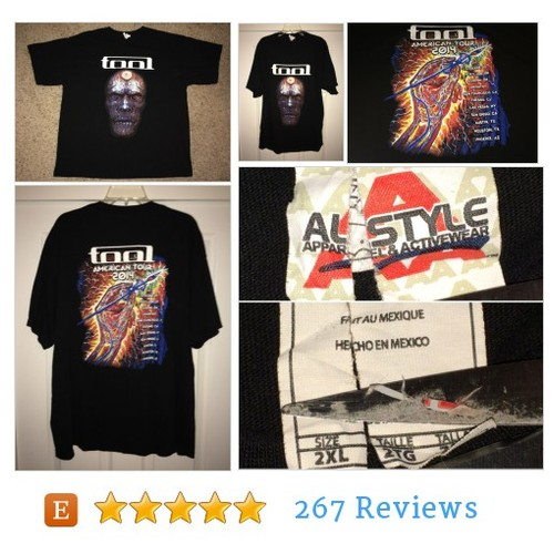 Sale!! TOOL American Tour Band #tee shirt #etsy @casual_is_me  #etsy #PromoteEtsy #PictureVideo @SharePicVideo