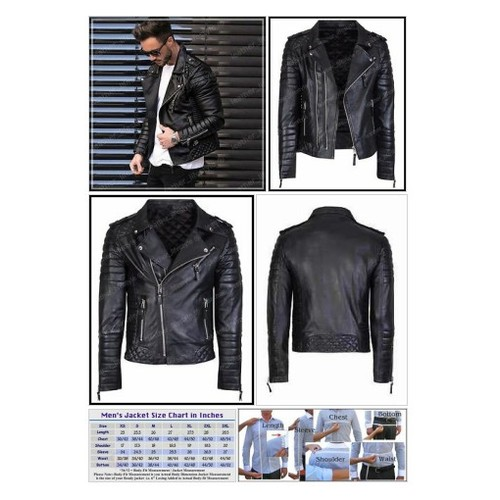 New Men's Genuine Lambskin Leather Jacket Black Slim fit Biker #ebay @leatherlifestye  #etsy #PromoteEbay #PictureVideo @SharePicVideo