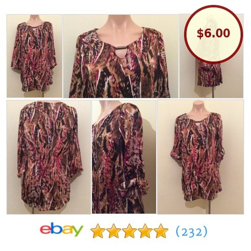 Suzanne Grae Women's Kaftan Tunic #Top Button Up Sleeves @crownclothing08 #ebay https://SharePicVideo.com?ref=PostVideoToTwitter-crownclothing08 #etsy #PromoteEbay #PictureVideo @SharePicVideo