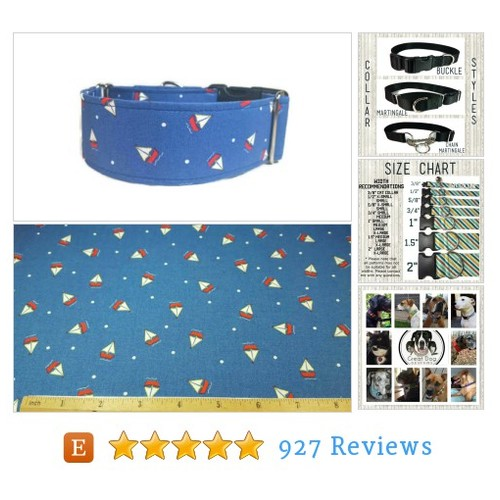 Sailboats * Dog Collar * Cat Collar * #etsy @greatdogdesigns  #etsy #PromoteEtsy #PictureVideo @SharePicVideo