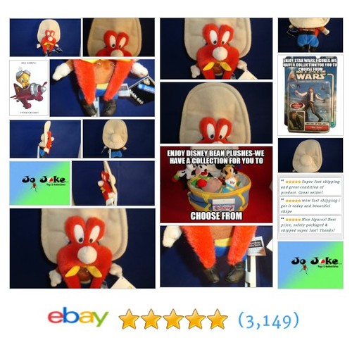 WARNER BROS STUDIO STORES-YOSEMITE SAM BEAN PLUSH-BIG HAT-SPECIAL-1998-NEW/TAGS | eBay #WARNERBROSSTUDIOSTORE #etsy #PromoteEbay #PictureVideo @SharePicVideo