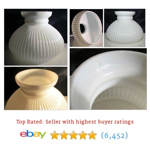 "Antique Vertical Ribbed Student Lamp Shade for 7"" Fitter Opal #ebay @antiquesetc16  #etsy #PromoteEbay #PictureVideo @SharePicVideo"