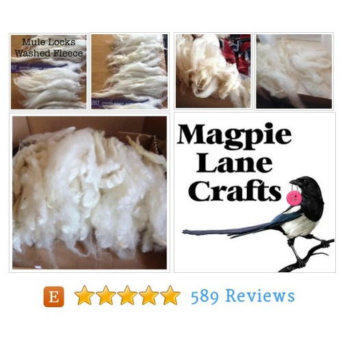 MULE WASHED LOCKS >220g White -Long clean #etsy @magpielanecraft  #etsy #PromoteEtsy #PictureVideo @SharePicVideo
