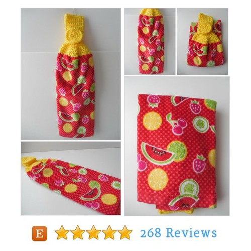 Kitchen Towel - Summer Fruit Towel - #etsy @shelleyscrochet  #etsy #PromoteEtsy #PictureVideo @SharePicVideo