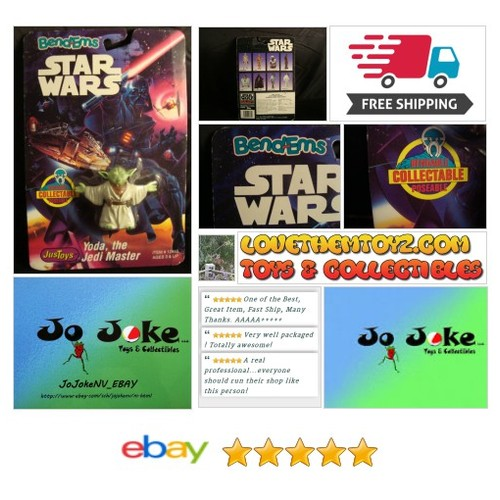 STAR WARS-BEND-EMS-YODA-THE JEDI MASTER-JUSTOYS-1993-BENDABLE&POSEABLE-NEW--RARE | eBay  #etsy #PromoteEbay #PictureVideo @SharePicVideo