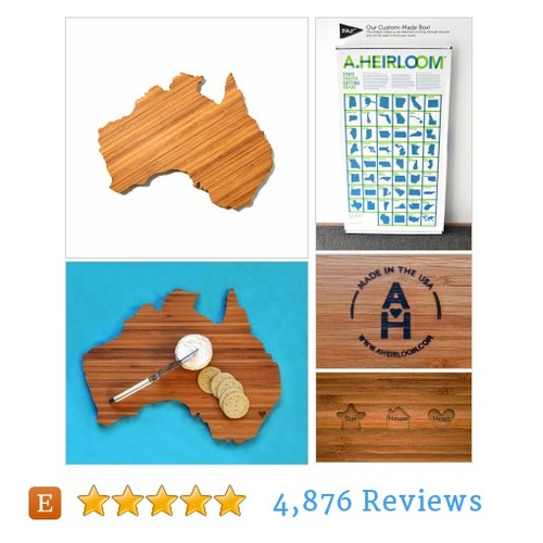 Australia Shaped Cutting Board @A_Heirloom  #etsy #PromoteEtsy #PictureVideo @SharePicVideo