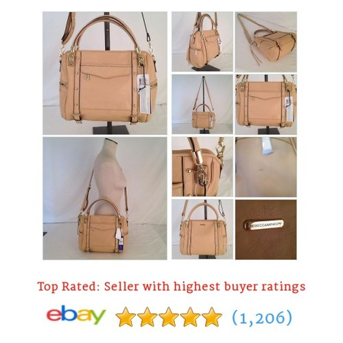 NWD REBECCA MINKOFF CUPID SATCHEL BISCUIT LEATHER CROSSBODY BAG #ebay @jazzycat6  #etsy #PromoteEbay #PictureVideo @SharePicVideo