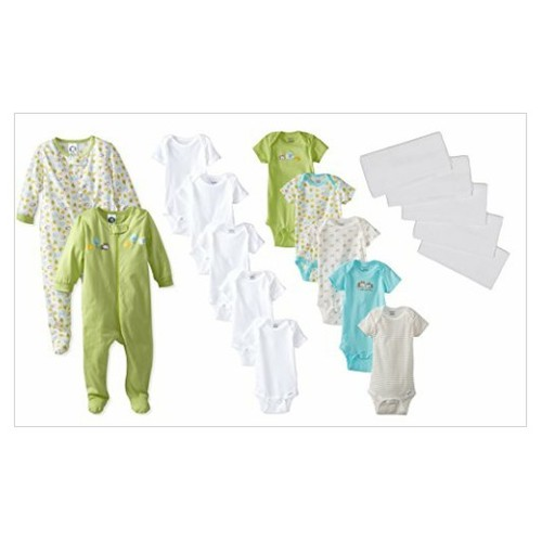 Gerber Unisex-Baby Newborn Neutral 17 Piece Essentials Gift Set, Green #socialselling #PromoteStore #PictureVideo @SharePicVideo