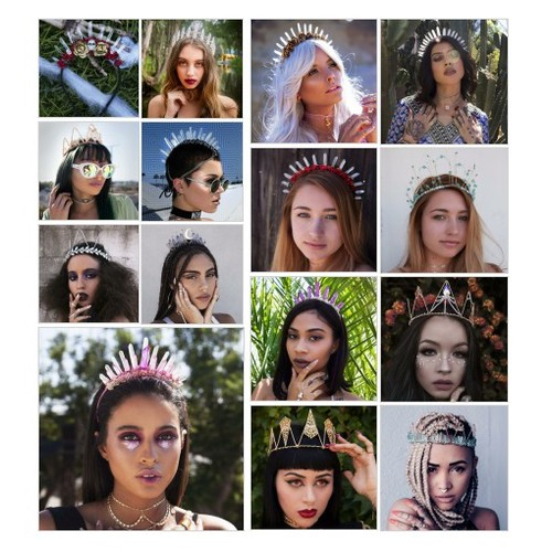 FESTIVAL HAIR ACCESSORIES @vidakush #shopify  #socialselling #PromoteStore #PictureVideo @SharePicVideo
