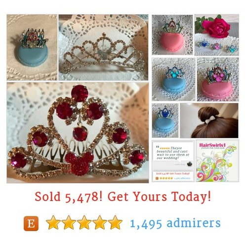 Hidden Mickey Tiara Comb - JEWELRY FOR YOUR HAIR by HairSwirls1 Etsy shop #HiddenMickeyTiaraComb Disney themed wedding in your future? Check these out at HairSwirls1.com and HairSwirls.com #etsy #PromoteEtsy #PictureVideo @SharePicVideo