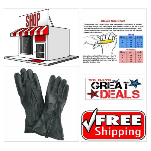 Gauntlet Cuffed Solid Leather #Motorcycle #Biker Gloves on #Amazon #socialselling #PromoteStore #PictureVideo @SharePicVideo