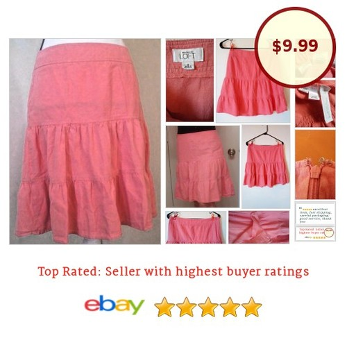 #AnnTaylor Loft #Hippie #Skirt #Salmon At knee Sz #Medium | eBay #Boho #Peasant #fashionista #fashion #auction #etsy #PromoteEbay #PictureVideo @SharePicVideo