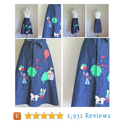 vintage 1970s novelty #skirt - COUNTY FAIR #etsy @mstipsvintage  #etsy #PromoteEtsy #PictureVideo @SharePicVideo