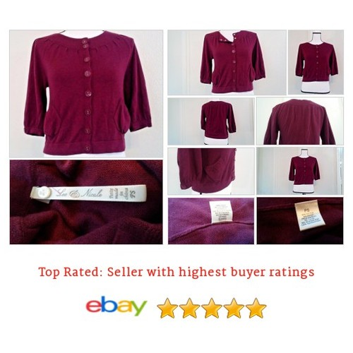 #Leo & Nicole Women's #Sweater Size PS Petite Small Faux Button Violet Purple Date #Nicole #etsy #PromoteEbay #PictureVideo @SharePicVideo