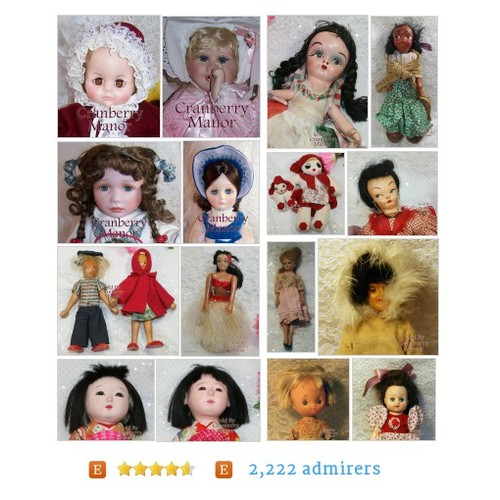 Vintage Dolls Vintage Dolls from Vintage Jewelry, Glass, China, Pottery, Dolls & Linens by CranberryManor Etsy shop #VintageDoll #etsy #PromoteEtsy #PictureVideo @SharePicVideo