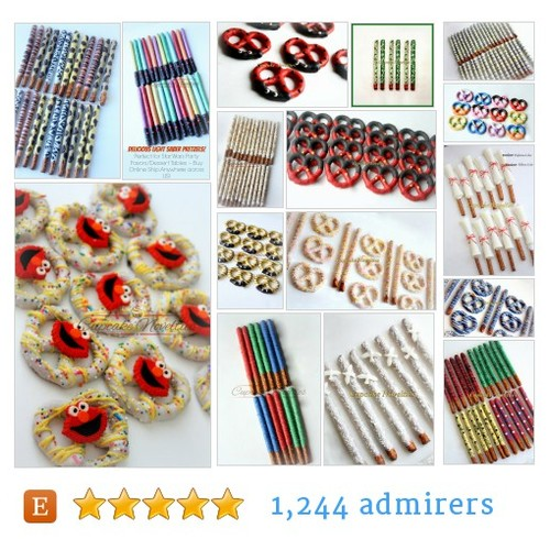 Chocolate Pretzels #etsy shop #chocolatepretzel @ccnovelties  #etsy #PromoteEtsy #PictureVideo @SharePicVideo