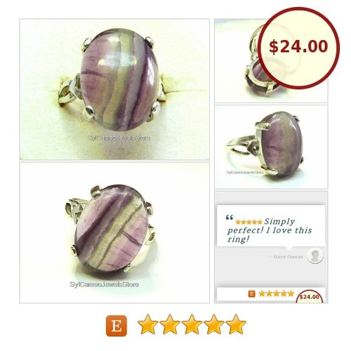 #PurpleFluorite #NaturalGemstone #Ring #SterlingSilver #SylCameoJewelsStore #Jewelry #StatementRing #etsyspecialT #specialtoo   #integritytt  @Wild_RTs @XLRTS @FamesFeed  #etsy #PromoteEtsy #PictureVideo @SharePicVideo