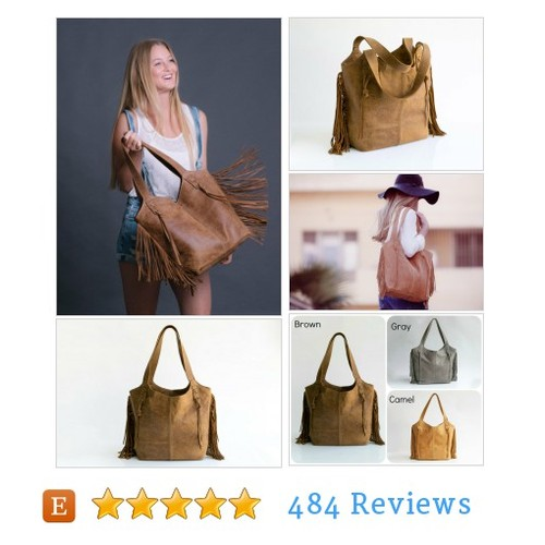 Brown Leather Bag - Leather Tote Bag - Boho #etsy @maykobags  #etsy #PromoteEtsy #PictureVideo @SharePicVideo