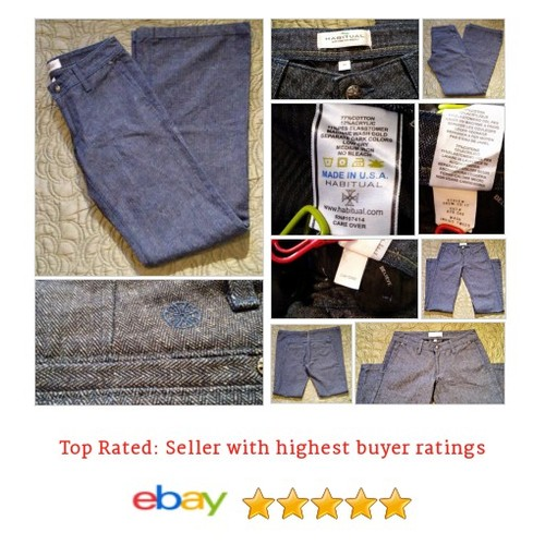 Habitual Women's Jeans Size S Indigo Tweed Trouser Herringbone #Flare #Jean #Habitual #etsy #PromoteEbay #PictureVideo @SharePicVideo