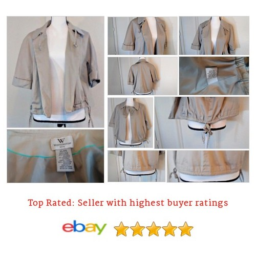 Worthington #Blazer Beige Women's Size L Popplin Style Ties Neutral Color Spring | eBay #Suit #Worthington #etsy #PromoteEbay #PictureVideo @SharePicVideo
