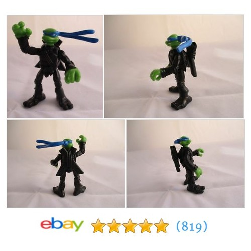 Teenage Mutant Ninja Turtles mini mutants LEONARDO TMNT movie #ebay @uptonjeff  #etsy #PromoteEbay #PictureVideo @SharePicVideo