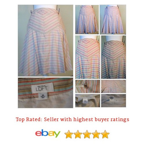 Ann Taylor Loft Chevron Size 14 Spring Summer Flared A-Line #Skirt Picnic | eBay #ALine #AnnTaylorLoft #etsy #PromoteEbay #PictureVideo @SharePicVideo