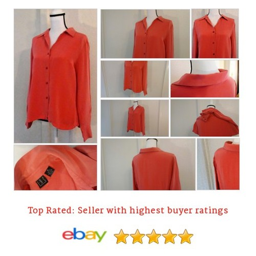 INC International Concepts #Blouse #PlusSize 14 #Pink #silk #Coral @eBay #etsy #PromoteEbay #PictureVideo @SharePicVideo