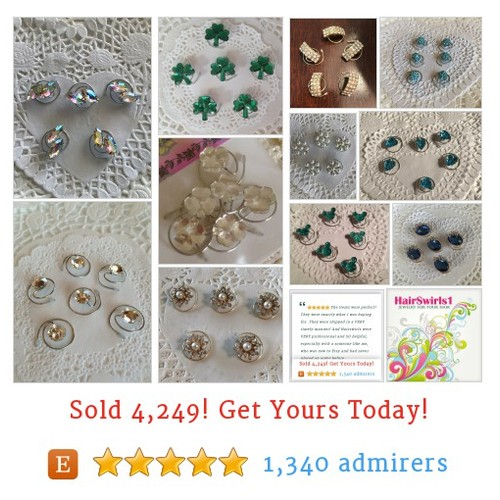 JEWELRY FOR YOUR HAIR by HairSwirls1 Etsy shop  Weddings, Proms, Ballroom Dancers, Irish Dancers, Ice Skaters? Hair Swirls are for you! #etsy #PromoteEtsy #PictureVideo @SharePicVideo