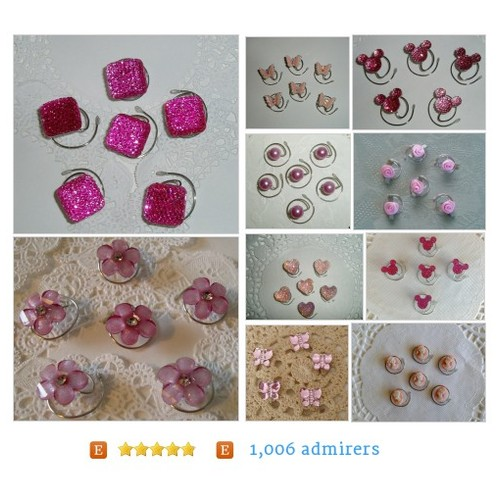 #Pretty in #Pink JEWELRY FOR YOUR HAIR by #HairSwirls1 Etsy shop  #etsy #PromoteEtsy #PictureVideo @SharePicVideo