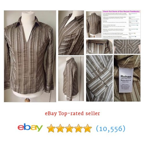 Rohan Shirt Blouse Top Size 14 Ladies Womens Brown Grey #ebay @useddesigneruk https://www.SharePicVideo.com/?ref=PostPicVideoToTwitter-useddesigneruk #etsy #PromoteEbay #PictureVideo @SharePicVideo