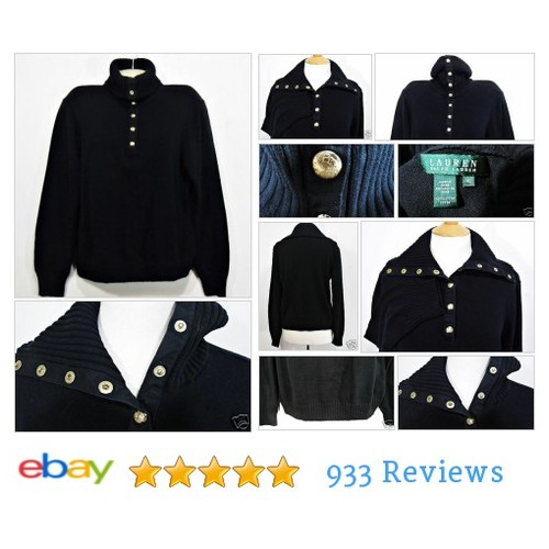 Womens Long Sleeve Navy Blue #Sweater Size M LAUREN Ralph Lauren Gold Buttons | eBay #CowlNeck #WomensClothing #etsy #PromoteEbay #PictureVideo @SharePicVideo
