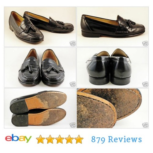Mens BASS Black Leather Loafers Sz 13 Tassels D Harrison #Bas #Dres #Loafer #etsy #PromoteEbay #PictureVideo @SharePicVideo