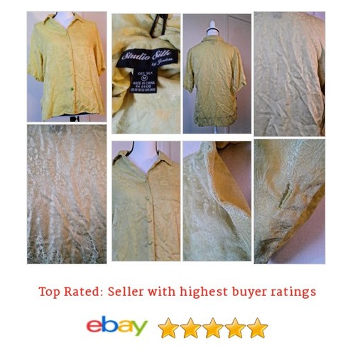Studio Silk by Jordan #Blouse Gold Size Medium Jacquard | eBay #Top #WomensClothing #etsy #PromoteEbay #PictureVideo @SharePicVideo