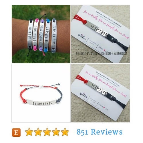 Custom Team Gift | School Spirit #Bracelet @blumaaffirm  #etsy #PromoteEtsy #PictureVideo @SharePicVideo