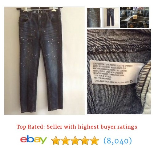 Cherokee Girls Skinny Embellished Jeans Size 10 #ebay @pacificresale  #etsy #PromoteEbay #PictureVideo @SharePicVideo