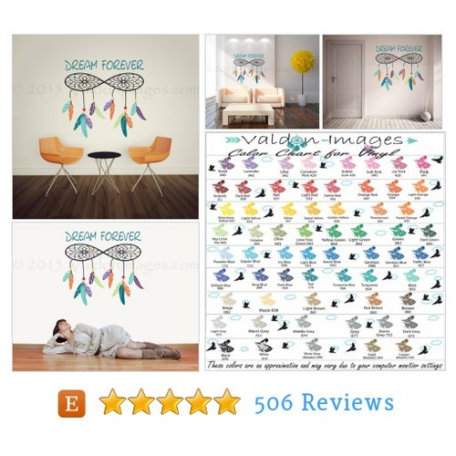 Dreamcatcher wall decal, dorm room wall #etsy @valdonimages  #etsy #PromoteEtsy #PictureVideo @SharePicVideo