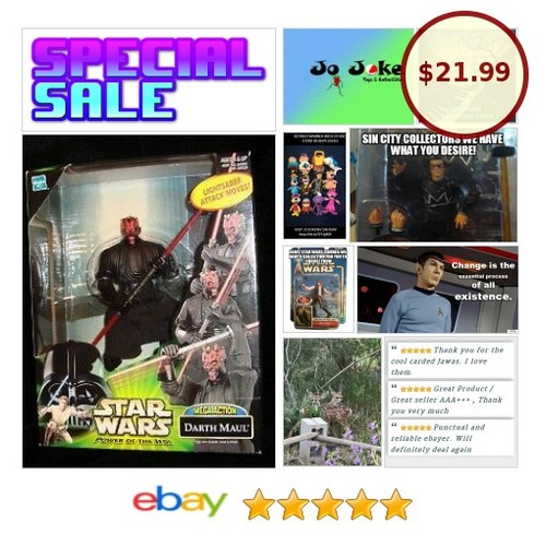 STAR WARS-DARTH MAUL-STELLAR DETAILING-MEGA ACTION-HASBRO-2000-NEW-MINT!! | eBay #Hasbro #etsy #PromoteEbay #PictureVideo @SharePicVideo