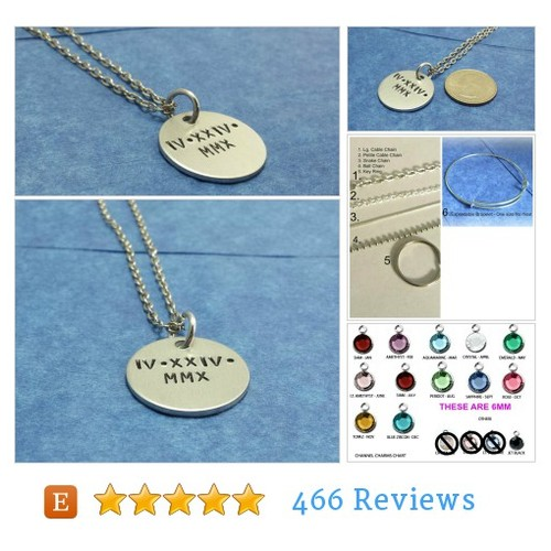 Personalized roman numeral necklace @handstampedtri1  #etsy #PromoteEtsy #PictureVideo @SharePicVideo