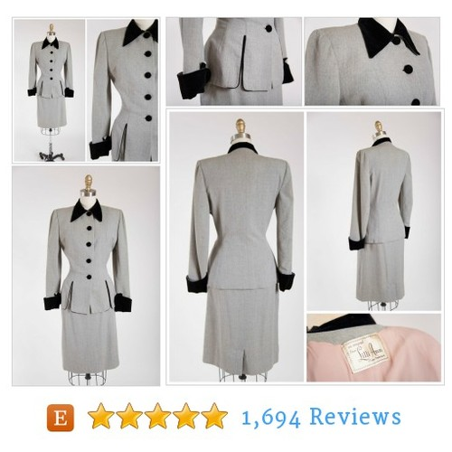 Vintage 1940s Dress • Swank Satisfaction • #etsy @stutterinmama  #etsy #PromoteEtsy #PictureVideo @SharePicVideo