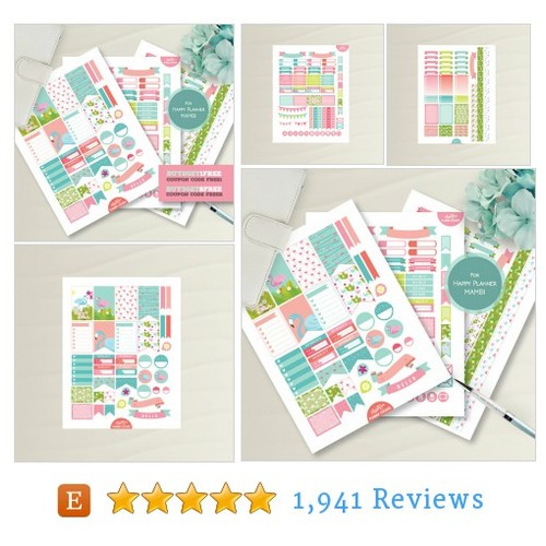 Pink Blue | Flamingos | MAMBI Planner #etsy @alakazoodesign  #etsy #PromoteEtsy #PictureVideo @SharePicVideo