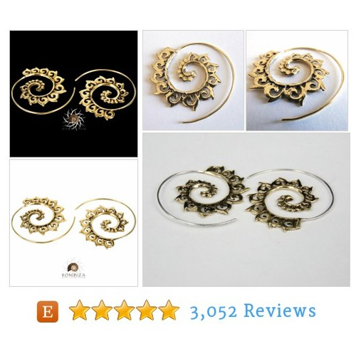 Brass Earrings - Brass Spiral Earrings - #etsy @ronibizajewelry  #etsy #PromoteEtsy #PictureVideo @SharePicVideo