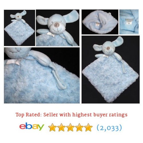 Blankets & Beyond Blue Swirl Puppy Dog Security Lovey Baby Boy #ebay @lyndeislucky  #etsy #PromoteEbay #PictureVideo @SharePicVideo