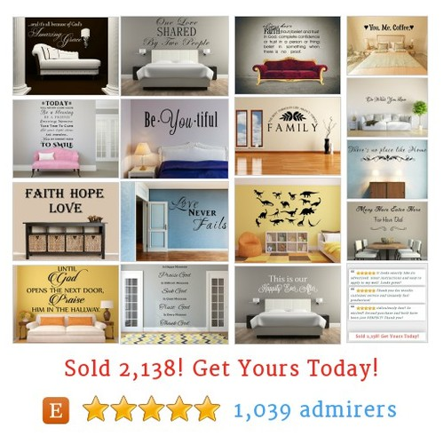 Quotes & Sayings Wall Decals by INSPIRATIONWALLSIGNS  shop @biblewalldecals #etsy https://SharePicVideo.com?ref=PostVideoToTwitter-biblewalldecals #etsy #PromoteEtsy #PictureVideo @SharePicVideo