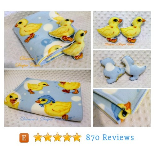 Ducks Baby Blanket and 2 Baby Rattles Duck #etsy @diapercakesbyd  #etsy #PromoteEtsy #PictureVideo @SharePicVideo