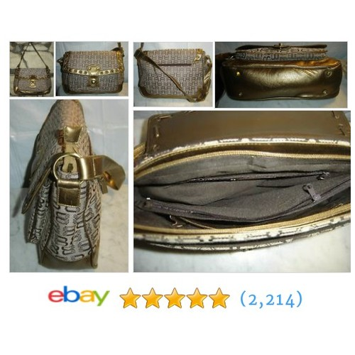 Brown and Gold Tone Handbag Purse #ebay @lksaltbox  #etsy #PromoteEbay #PictureVideo @SharePicVideo